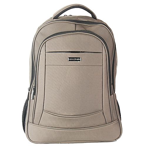 Nylon Backpack For Laptop - Grey