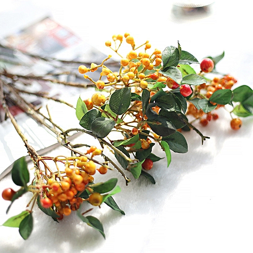 Bioaldla Store Artificial Fake Leaf Berry Vinegar Simulation Leaves Wedding Party Home Decor