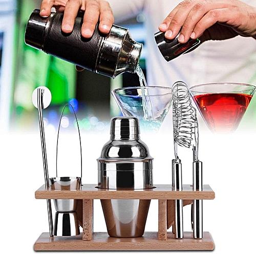 1Set Stainless Steel Cocktail Shaker Mixer Drink Bartender Martini Tools Bar Set Kit (250ML)