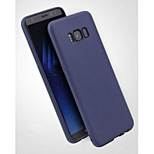 Candy Color TPU Silicone Rubber Full Case For Samsung Galaxy S8 Case-Dark Blue