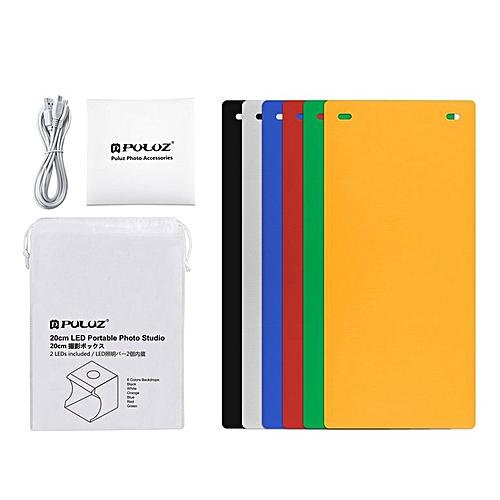 PULUZ PU5022 Compact Foldable Design Small LED Photography Studio Box Lamp Box White