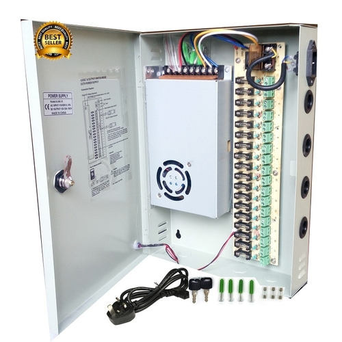 cctv 18 channel cctv power supply dc 12v with splitter fuse box rh jumia com ng