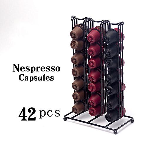 Holder Storage Rack For 42 Cups Nespresso Coffee Capsule