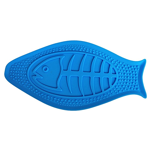 Pet Bath Tool Transfer Attention Silicone Bowl For To Take A Quiet-blue