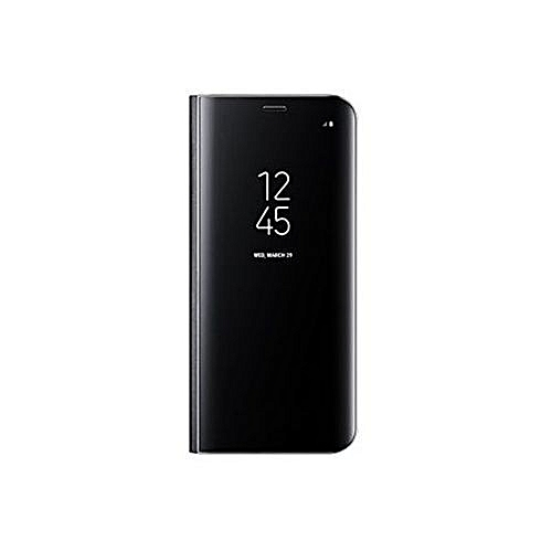 newest 8eaf0 bf526 S8 Plus Smart Sensor Clear View Standing Cover For Samsung Galaxy S8 Plus -  Black