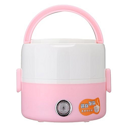 220V Multifunctional Electric Heating Lunch Box Food Warmer Meal Container Set Pink