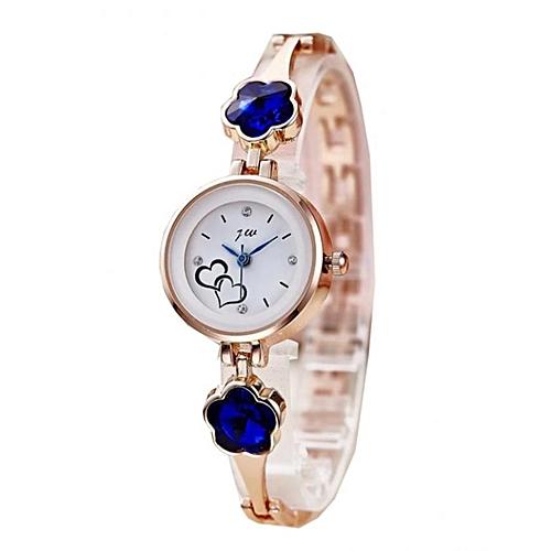 Women's Stud Wrist Watch - Rose Gold/Royal Blue