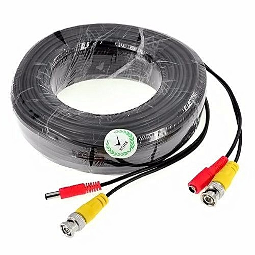 CCTV Extension Cable BNC Video And Power 40 Meter Lead For Security Camera DVR - 50M
