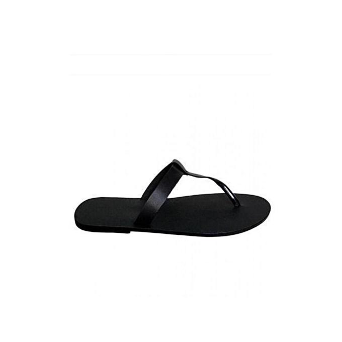 13e7c2294719 KINGS Simple Slippers - Black KINGS Simple Slippers - Black ...
