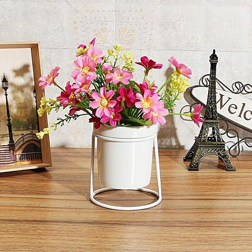 Metal Plant Stand Flower Pots Shelves Rack Holder Iron Frame Ceramic Vase Decor