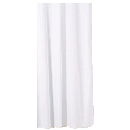Solid Colour Shower Curtain - White