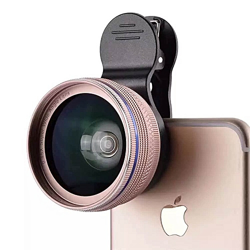 0.45X Large Wide Angle + Macro Lens 2-IN-1 Metal Clip Universal Mobile Phones Clip Wide-Angle Telescopes General HD Wide-Angle Telephoto Lens