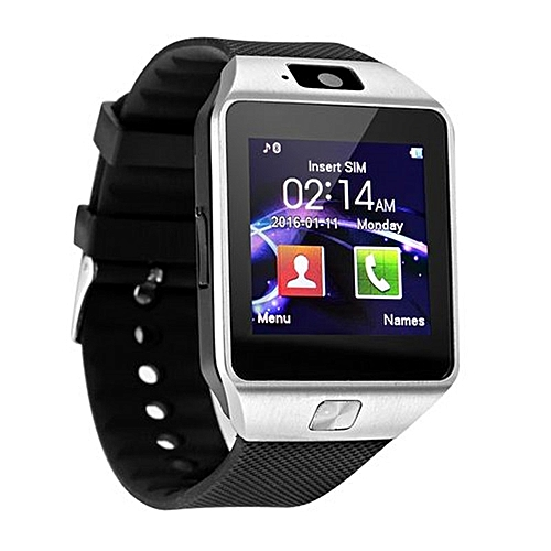 DZ09 Smart Watch Support SIM TFCard For Android Phone_Black&Silver