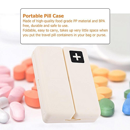 Portable Medicine Case Foldable Pill Box Organizer With 7 Compartments
