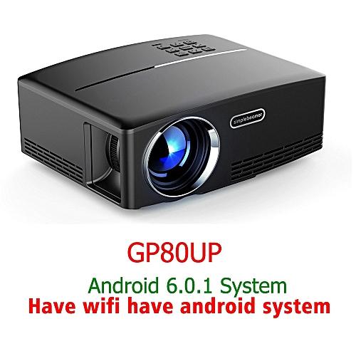 ThundeaL GP80 GP80UP GP70 Upgraded Android 6.0 Mini Projector LED LCD Projector VGA HDMI Optional WIFI Beamer ASQOB