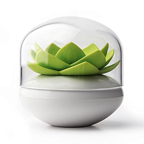 Lotus Cotton Ball/Swab Holder, Small Q-tips Toothpicks Organizer, Cosmetic Storage For Bathroom Vanity, 3 Colors