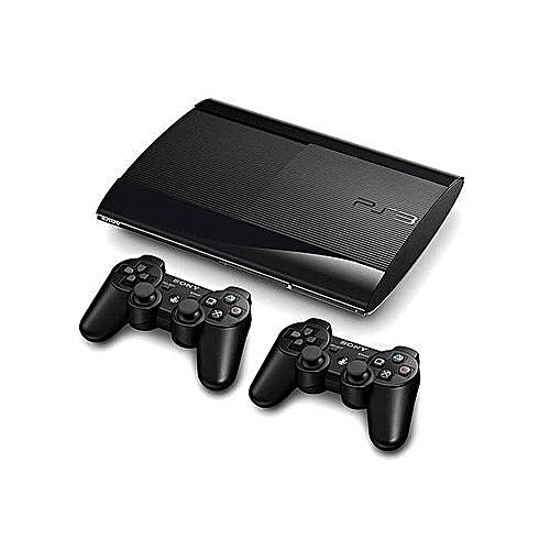 PS3 SuperSlim Console 500GB + 2 Controllers + 18 Latest Games Downloaded Including FIFA 18 + PES 2018