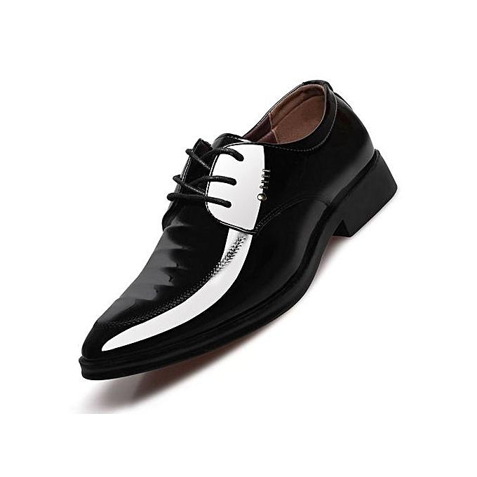 d9262e2eebdc Men Dress Shoes Genuine Leather 2019 Fashion Men s Oxford Shoes Leather  Derby Shoe Lace-up