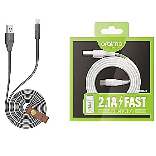 Type C 2.1A Fast Charging Data Cable