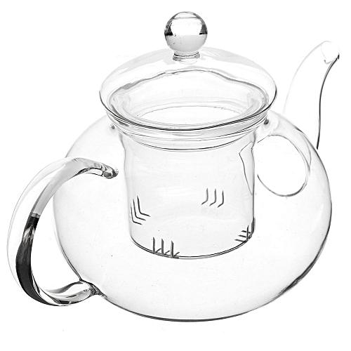 Freebang 600mL Glass Flower Coffee Tea Pot Set Infuser Filter + Tealight Warmer + 6 Cups
