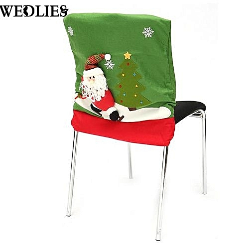 3D Christmas Dinner Chair 3D Santa Home Decor Ornaments Chair Covers Gift