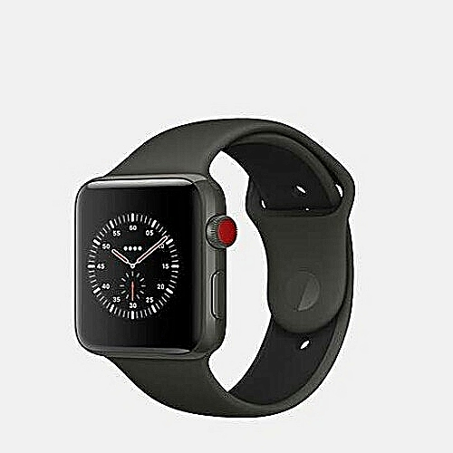 Apple  Generic Apple Watch Series 3 (GPS) + Cellular 42mm Space Gray Aluminum Case Sport Band - Black