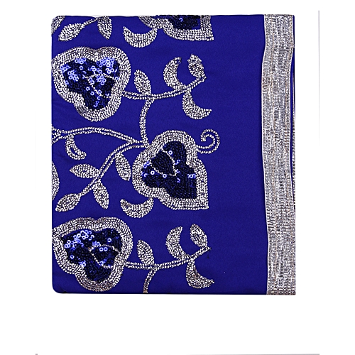 Indian Wear Fabric Plain And Patterned - Royal Blue