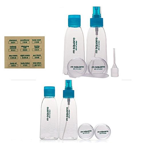 Honana BX-310 Refillable Cosmetic Points Bottling Packing Bottle Leak Proof Travel Bottles 4Pcs/Set
