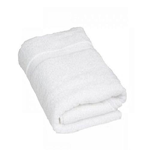 Pure Cotton Large Bath Towel- White