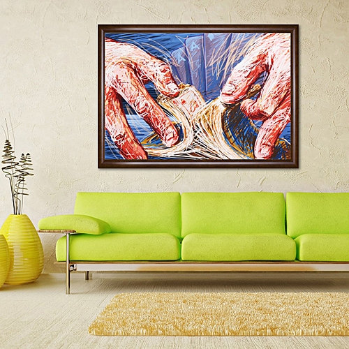 """16""""x26"""" Art Canvas Print Playing Poker Painting Picture Office Home Wall Decor Unframed-Multi"""