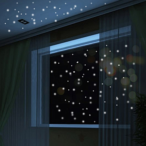 Skywolfeye Glow In The Dark Star Wall Stickers 407pcs Round Dot Luminous Kids Room Decor Green
