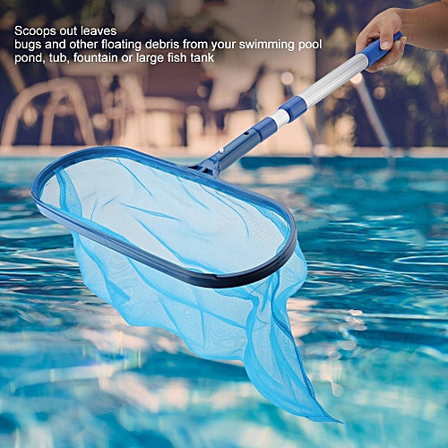 Swimming Pool Leaf Skimmer Mesh Net With Telescopic Pole Pond Tub Effective Cleaning Tool
