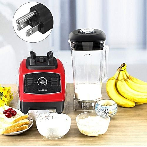 110V US PLUG RED 3HP BPA 2200W Commercial Home Smoothies Power Blender Food Mixer Fruit Processor