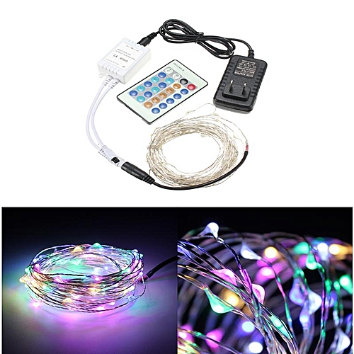 10m 100leds Silver Wire Christmas Outdoor String Fairy Light Remote Controller