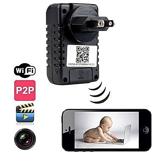 1080P HD WiFi Hidden Camera Wall Charger HD Audio Video Covert SpyCamera Recorder IPhone Android PC Mac Internet Monitoring MotionDetection IP Wireless Security Nanny Cam BDZ
