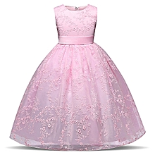 66fe8a88c1488 Lace Ball Gown Dress, Lace Girls Princess Dress Kids Party Wedding  Bridesmaid Formal Ball Gown