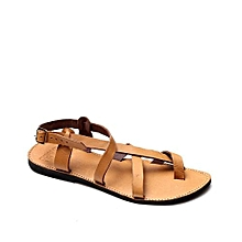 Leather Sandals - Light Brown d269cfc92