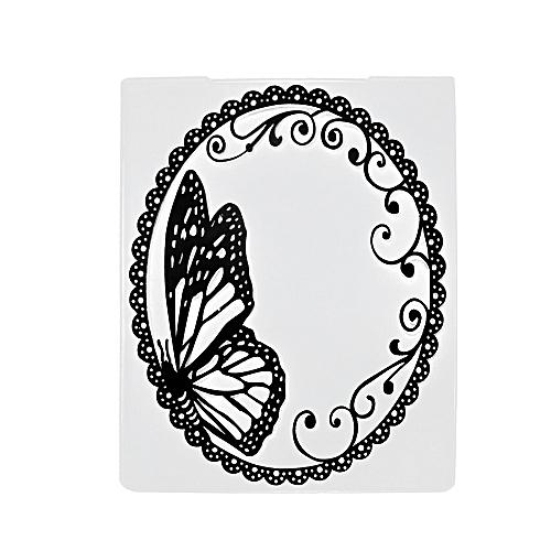 Houseworkhu Scrapbook Mirror Design DIY Paper Cutting Dies Scrapbooking Plastic Embossing -White