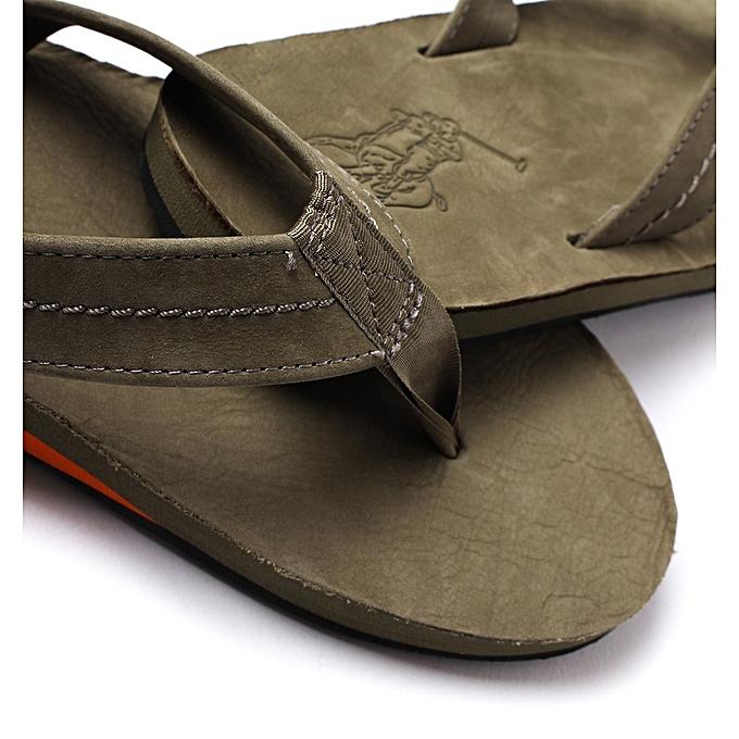 b2e306675e977 Polo Ralph Lauren Men s Edgemont Flip-Flop(Olive Silky Nubuck ...