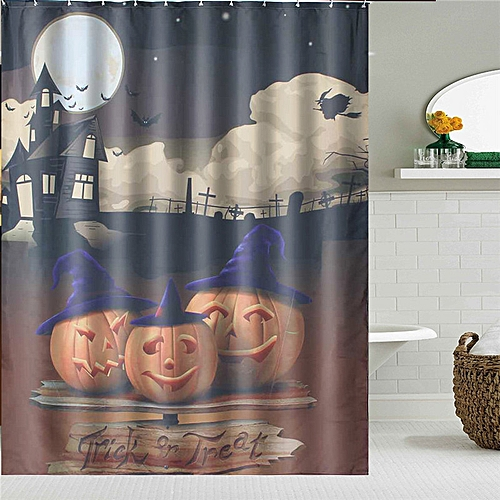 150x180cm Halloween Pumpkin Bathroom Decor Bath Shower Curtain Waterproof Fabric