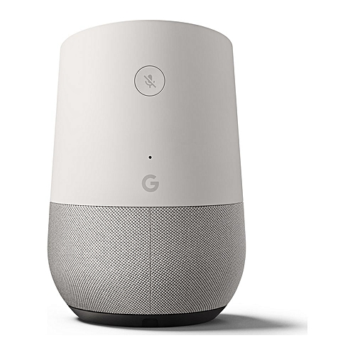 Home, Smart Speaker, Voice Activated, White/Slate Fabric