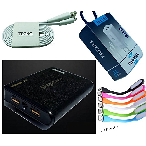 Mobile 40,000mAh Power Bank Plus Tecno/Android Charger & LED Light