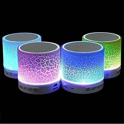 Wireless Bluetooth Speaker With Crack Pattern/LED Flash