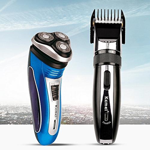 Kemei Men S Hair Clipper Hair Trimmer Haircut Triple Blade Floating