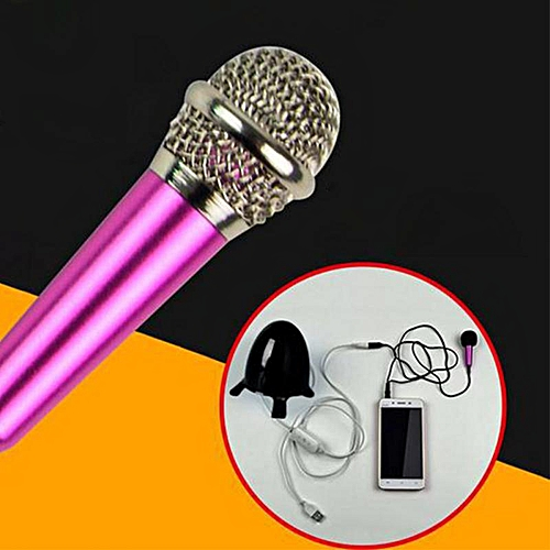 3.5mm Cell Phone Microphone Stereo Studio Mic Mini Microphone For Cell Phone Desktop 5.5cm*1.8cm Small Mikrafon Mic Microphones