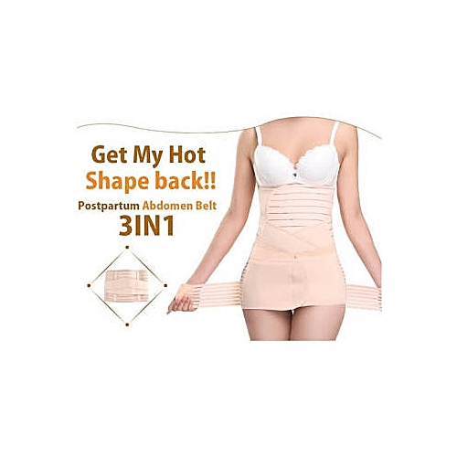 27a9296d6f Fashion 3 In 1 Postpartum Girdle Support Recovery Belly Band Corset Wrap Body  Shaper For After Birth Postnatal Waist Pelvis Shapewear