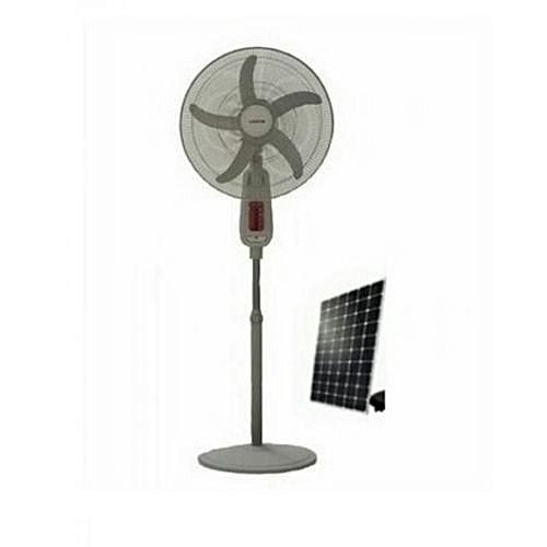 16 Inches Rechargeable Standing Fan + 8Watts Solar Panel