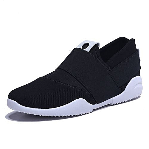 Breathable Slip-on Casual Sneakers - Black