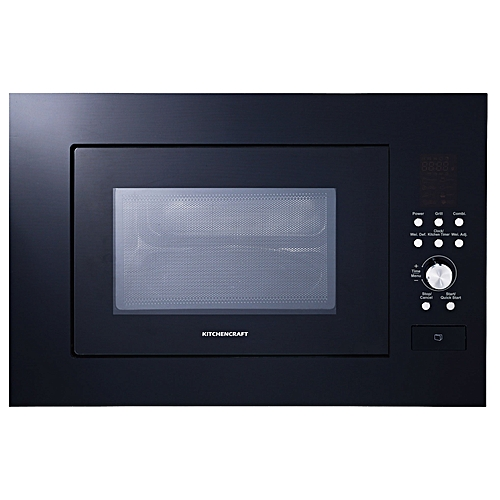 Built-in Microwave Oven - Black Glass Face- Grill - MW825B01
