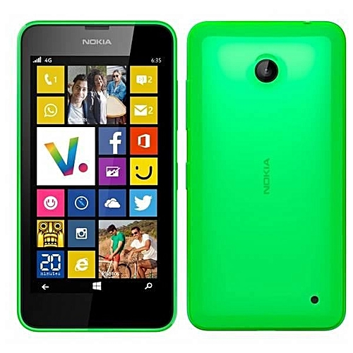 "(GREEN)Nokia Lumia 635 Windows Phone 4.5"" Quad Core 1.2GHz 8G ROM 5.0MP WIFI GPS 4G LTE Smartphone"